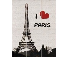 Панно АТЕМ I Love Paris 885x1190 мм