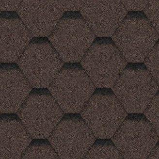 Битумная черепица Icopal Plano Tema 1000х317 мм коричневая