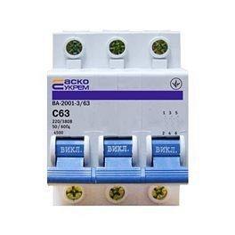 Автоматичний вимикач Аско ВА-2001 3P C 50