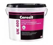 Універсальний клей для ПВХ-покриттів і текстилю Ceresit UK400 14 кг