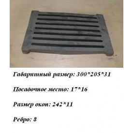 Колосник чугунный 300x205 мм