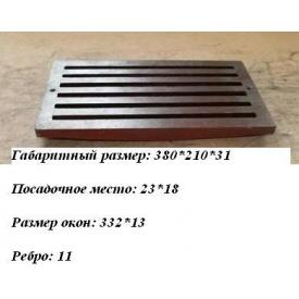 Чавунні Колосники 380x210 мм
