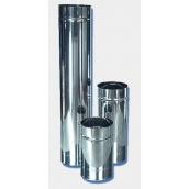 Труба утепленная дымоходная АТМОФОР нержавеющая сталь AISI 321 1 м к/к 0,8 мм