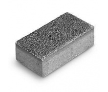 Тротуарна плитка Бруківка 20-10-6 сірий