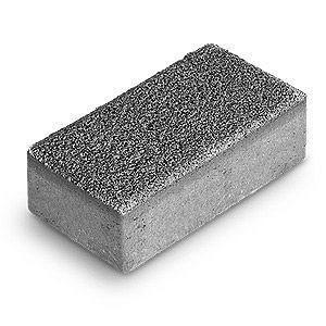 Тротуарная плитка Брусчатка 20-10-6 серый