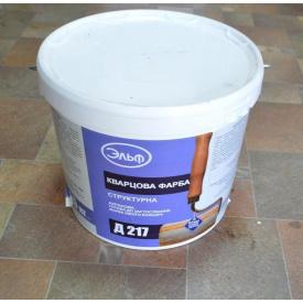 Краска структурная кварцевая фасадная ЭЛЬФ Д-217 25 кг белая