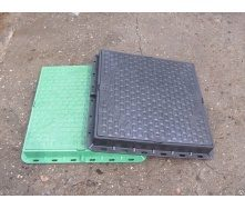 Люк квадратный пластмассовый ф610 1 т 610х610 мм