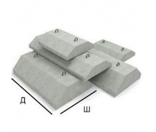 Фундамент ленточный ФЛ 32.12.2 1200х3180х500 мм