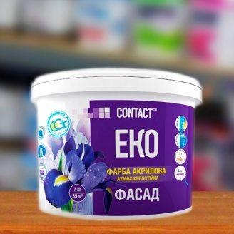 Краска акриловая фасадная EKO CONTACT атмосферостойкая 14 кг