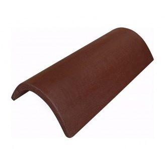 Коньковая черепица ONDO MARRÓN 235х405 мм коричневый