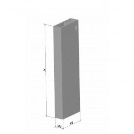 Вентиляційний блок ВБ 28 ТМ «Бетон від Ковальської» 910х300х2780 мм