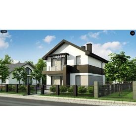 Строительство дома по проекту Емили Базовый 8,8х7,6 м
