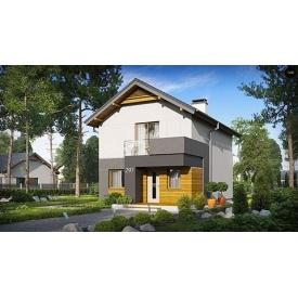 Строительство дома по проекту Енигма Стандарт 8,7х6,4 м
