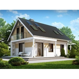 Строительство дома по проекту Барселона Комфорт 6,3х8,7 м