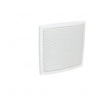 Наружная вентиляционная решетка VILPE 375х375 мм белая
