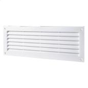 Вентиляційна прямокутна решітка Домовент ДВ 350 пластик 130х368 мм біла