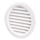Вентиляційна кругла решітка Домовент 100 БВС пластик 128 мм біла