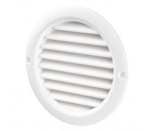Вентиляционная круглая решетка Домовент 100 БВС пластик 128 мм белая