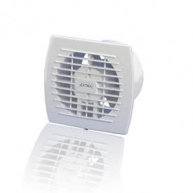 Вентилятор витяжний Europlast Extra E 100 19 Вт 100х130х140 мм білий з таймером