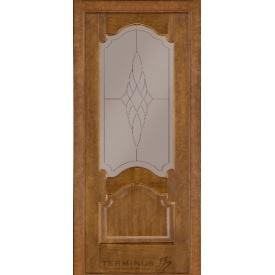Межкомнатная дверь TERMINUS Classic Модель 08 под стекло дуб тёмный