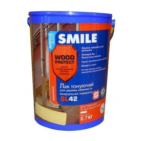 Лак акриловый SMILE SL-42 полуматовый 0,7 кг бесцветный
