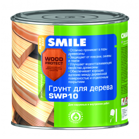 Грунт SMILE SWP-10 WOOD PROTECT для дерева антисептичний 19 л