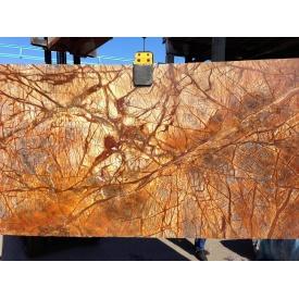 Мрамор Bidasar Brown Antic коричневый с темно-коричневыми прожилками