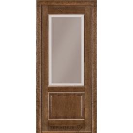 Межкомнатная дверь TERMINUS Modern Модель 04 дуб браун полотно застекленное