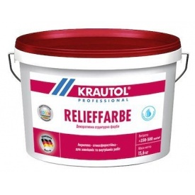 Фарба структурна фасадна Krautol RELIEFFARBE 15,6 л