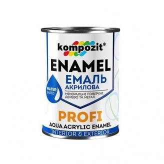Эмаль акриловая Kompozit PROFI С глянцевая 0,8 л
