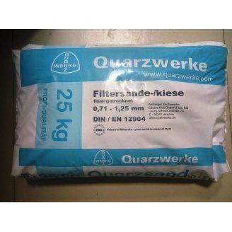 Кварцовий пісок для фільтра басейну Quarzwerke 0,7-1,25 мм