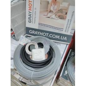 Теплый пол Grayhot 8 м2 двухжильный кабель 81 м с терморегулятором