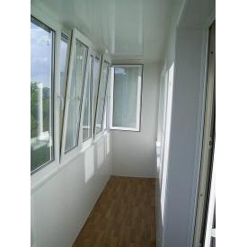 Балконная рама 4,2 м металлопластиковая с ПВХ окнами WDS