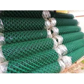 Сетка рабица с ПВХ покрытием 2,5/1,5 мм 50х50 мм 1,5х10 м зеленая
