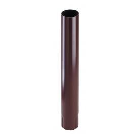 Труба водостічна Прушиньскі Niagara 90х1000 мм коричневий