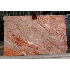 Мармур TIGER сляб 20 мм біло-рожевий-коричневий