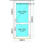 Двери входные профиль дверной WDS 400 с многоточечным замком 900x2000 мм