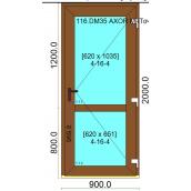Вхідні двері профілю WDS 400 дверний з односторонньою ламінацією 900x2000 мм дуб золотий