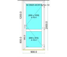 Двері вхідні дверний профіль Ultra 6 з багатоточковим замком 900x2000 мм