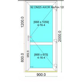 Двери входные профиль дверной Ultra 6 с многоточечным замком 900x2000 мм