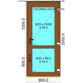 Вхідні двері профіль дверний WDS з односторонньою ламінацією 900x2000 мм дуб золотий