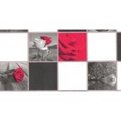 Шпалери паперові New Service Ексклюзив-Люкс 207 вологостійкі 10х0,53 м чорно-білі з червоним