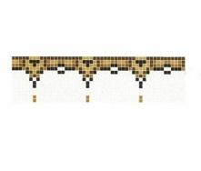 Облицовка стен фризом из мозаики Grande Art Deco 28,4 см