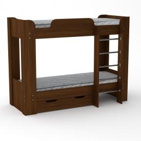 Двухъярусная кровать Твикс-2 Компанит 1974х908х1522 мм орех-эко