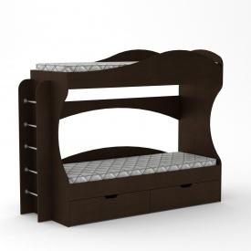 Двох`ярусне ліжко Компаніт Бриз 1670х2092х744 мм венге
