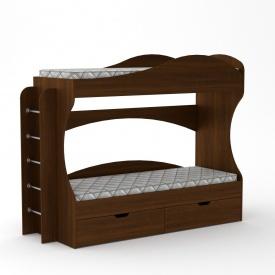 Двухъярусная кровать Компанит Бриз 1670х2092х744 мм орех-эко