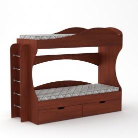 Двухъярусная кровать Компанит Бриз 1670х2092х744 мм яблоня