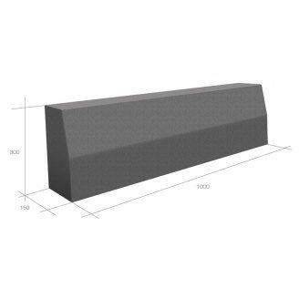 Бордюр дорожный Brukland 1000x300x150 мм серый