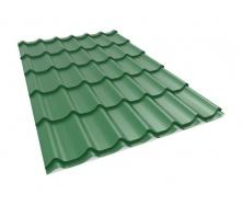 Металлочерепица Прушиньски Szafir purmat 350 мм 1180х40 мм зеленый