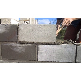 Укладка стенового газоблока